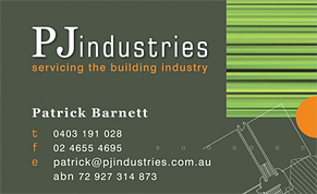 PJ Industries Business Card